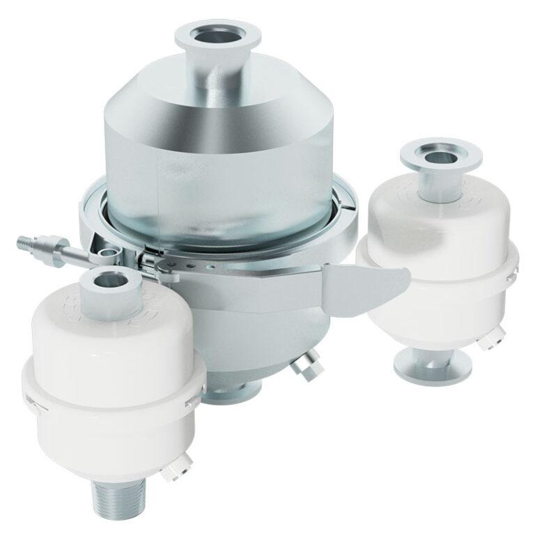 recirculating oil mist filter for vacuum pumps