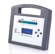 Tracer gas leak detector using hydrogen mixture as the tracer gas