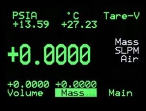 apex mass flow controller display