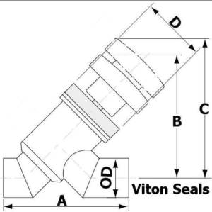 Angle Inline Valve Tube End
