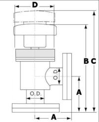 ISO Manually Operated Right Angle Valve