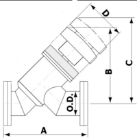 Manual Angle In-Line Valve Conflat Flange