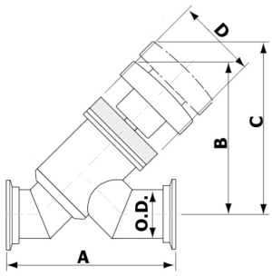 Manual Angle Inline Valve NW Flanged