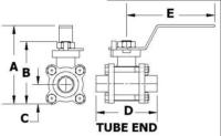 Manual Ball Valve Tube End