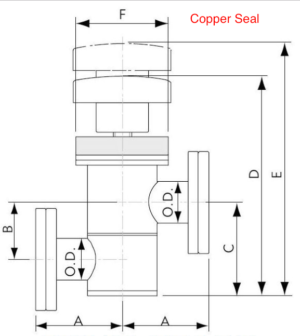 Manual In-Line Valve Conflat Flange