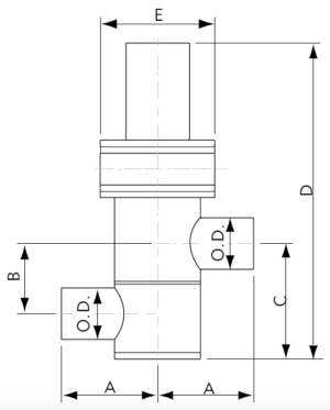 Pneumatic Inline Valve Tube Ends