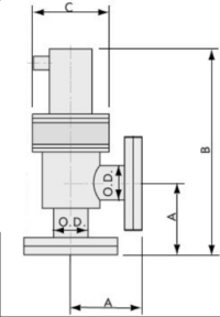Pneumatically Actuated ISO Right Angle Valve