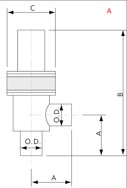 Pneumatically Actuated Right Angle Valve Tube End Port