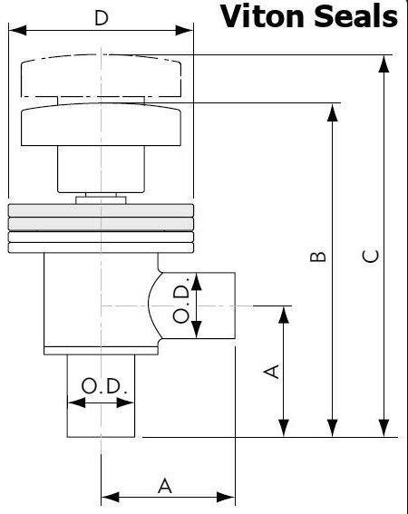 Tube End Manual Right Angle Valve