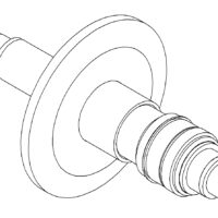 Coaxial Quick Flange Feedthrough