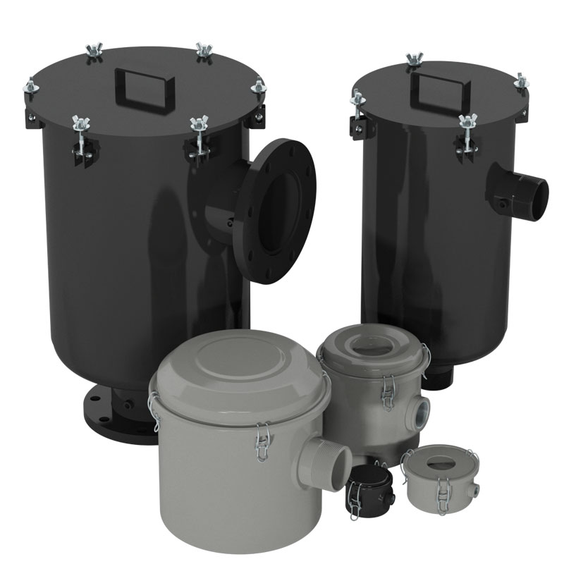 CSL Series-Inline Right Angle Threaded and Flanged vacuum filters