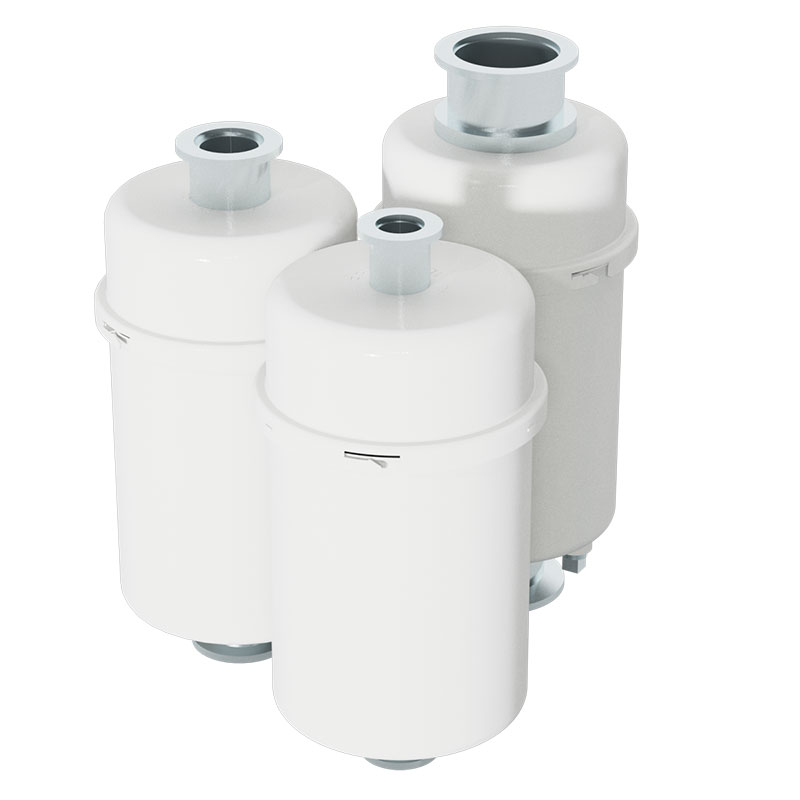 Oil mist filter with odor removal